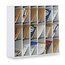 Safco; Wood Mail Sorter, 32 3/4 inch;H x 33 3/4 inch;W x 12 inch;D, Gray