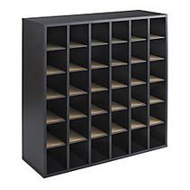 Safco; Wood Mail Sorter, 36 Compartments, 32 3/4 inch;H x 33 3/4 inch;W x 12 inch;D, Black