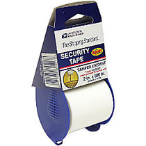 United States Postal Service; Security Tape With Bandit™ Dispenser, 1 inch; Core, 2 inch; x 16.6 Yd.