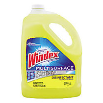 Windex; Multi-Surface Disinfectant Cleaner, Citrus, 1 Gallon, Pack Of 4
