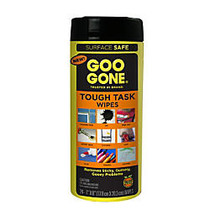 Goo Gone; Tough Task Cleaner Wipes, Citrus Scent, Pack Of 24