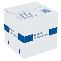 United States Postal Service; Premium 100% Recycled Shipping Box, 6 inch; x 6 inch; x 6 inch;, White
