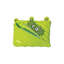 ZIPIT; Monster 3-Ring Pencil Pouch, 6 inch;H x 9 inch;W x 3/4 inch;D, Lime