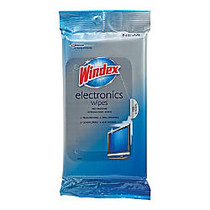Windex Electronics Cleaner, 25 Wipes Per Pack, Case Of 12 Packs