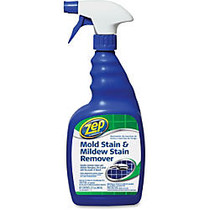 Zep Commercial Mold Stain/Mildew Stain Remover - Spray - 0.25 gal (32 fl oz) - 1 Each - Clear