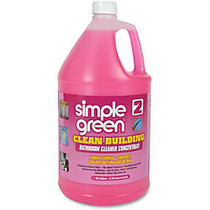 Simple Green Clean Building Bathroom Cleaner Concentrate - Concentrate Liquid Solution - 1 gal (128 fl oz) - 2 / Carton - Pink