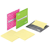 Post-it; Pop-up Note Dispenser, With Refill Pad, 3 inch; x 3 inch;, Assorted Colors, Pack Of 3
