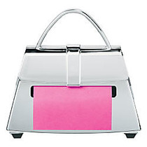 Post-it; Pop-Up Shaped Note Dispensers, Purse, 5 1/2 inch;H x 5 1/8 inch;W x 2 1/4 inch;D, Chrome