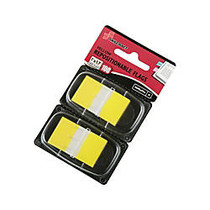 SKILCRAFT; 70% Recycled Color Self-Stick Flags, 1 inch; x 1 3/4 inch;, Yellow, 50 Flags Per Pad, Pack Of 2 (AbilityOne 7510-01-315-2024)