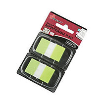 SKILCRAFT; 70% Recycled Self-Stick Marker Flags,1 inch; x 1 3/4 inch;, Bright Green, 50 Flags Per Pad, Pack Of 2 (AbilityOne 7510-01-399-1152)