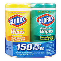Clorox; Disinfecting Wipes, 75 Wipes Per Tub, Pack Of 2 Tubs