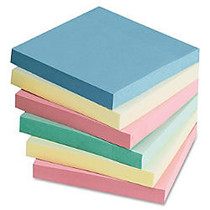 Sparco Adhesive Note - 100 - 3 inch; x 3 inch; - Square - Unruled - Assorted - Repositionable, Solvent-free Adhesive - 12 / Pack