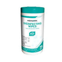 Highmark; Disinfectant Wipes, Container Of 75 Wipes