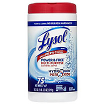 Lysol; Power & Free™ Multipurpose Disinfecting Wipes, Oxygen Splash Scent, Canister Of 75 Wipes, Case Of 6