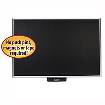 Smead; Justick Display And Bulletin Board, Aluminum, 24 inch; x 36 inch;, Black, Aluminum Frame