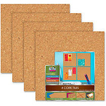 The Board Dudes 12 inch;x12 inch; Cork Tiles - 12 inch; Height x 12 inch; Width - Light Brown Cork Surface - 1 Pack