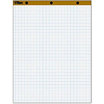 TOPS 1 inch; Grid Square Ruled Easel Pad - 50 Sheets - Printed - Stapled/Glued - 16 lb Basis Weight - 27 inch; x 34 inch; - White Paper - 4 / Carton