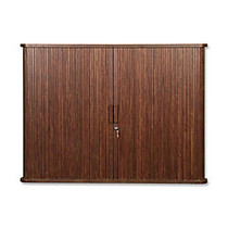 Balt Tambout Door Conference Cabinet With Locking Doors, 44 inch; x 32 inch;, Mahogany
