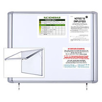 MasterVision; Enclosed Board, Magnetic, Dry Erase, Steel, 47 inch; x 38 inch;, Aluminum Frame