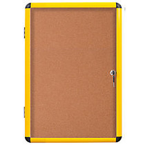 MasterVision; Enclosed Cork Board, 47 inch; x 38 inch;, Yellow, Aluminum Frame