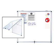 MasterVision; Ultra-Slim Enclosed Board, Magnetic, Dry-Erase, Steel, 47 inch; x 38 inch;, Aluminum Frame