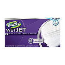 Swiffer; WetJet System Refill Cloths, 14 inch; x 3 inch;, 24 Cloths Per Pack, Box Of 4 Packs
