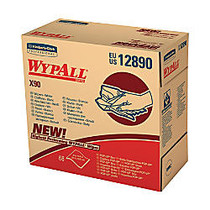WYPALL X90 Cloths, Industrial, 8-3/10 inches x 16-4/5 inches, White, Five boxes of 68 cloths, 340 cloths per case, Sold as a Case