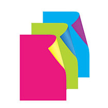 Royal Brites; Cool Colors Poster Board, 22 inch; x 28 inch;, Fluorescent Assorted Colors, Pack Of 3