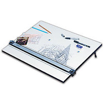 Staedtler; Parallel Straight Edge Drawing Board, 18 inch; x 24 inch;, White