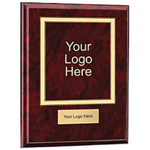 Wood Award Plaque With Engraved Plate