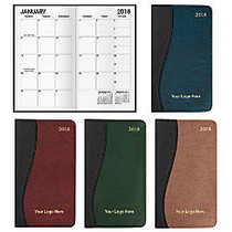 Wave Monthly Pocket Calendar, 6 3/8 inch; x 3 5/8 inch;, January–December