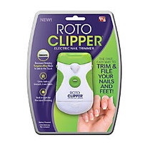 Roto Clipper; Electric Nail Trimmer, 6 5/16 inch;H x 2 3/8 inch;W x 8 3/16 inch;D, Green/White