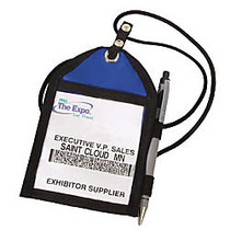 Trade Show Badge Pouch, 6 inch; x 4 inch;