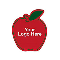 Apple Magnet, 1 5/8 inch;H x 2 inch;W, Red