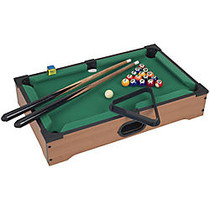 Trademark Games Mini Tabletop Pool Table, 3 1/2 inch; x 12 1/4 inch; x 20 1/4 inch;, Brown