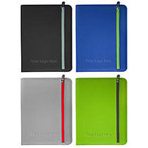 Zippered Padfolio, 13 1/2 inch;H x 10 inch;W, Assorted Colors