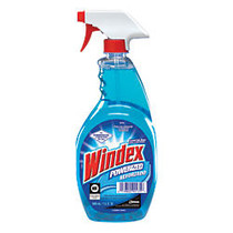 Windex; Powerized Glass Cleaner With AMMONIA-D; Trigger Spray Bottle, 32 Oz., Pack Of 12