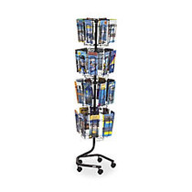 Safco; 32-Pocket Wire Rotary Brochure Literature Rack, 60 inch;H x 15 inch;W x 15 inch;D, Charcoal