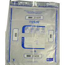 TripLok Tamper Evident Security Bags, Clear, 20 inch; x 24 inch;, Carton Of 250