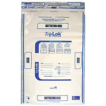 TripLok Tamper Evident Security Bags, Clear, 20 inch; x 28 inch;, Carton Of 100