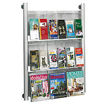 Safco; Luxe Magazine Rack, 41 inch;H x 31 3/4 inch;W x 5 inch;D, Silver