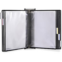 Tarifold Antimicrobial Reference Display System - 20 Sheet(s)/Panel - Letter Size - 1 Each - Clear, Black