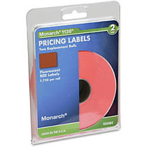 Monarch; Pricemarker Labels, 2-Line, Fluorescent Red, Pack Of 3,500 (2 Rolls)