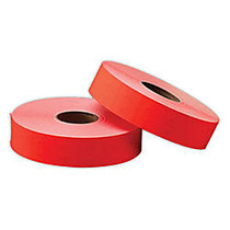 Office Wagon; Brand General Purpose Adhesive Pricemarking Labels, Flourescent Red, 1750 Labels/Roll, Pack Of 2