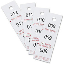 Safco 3-part Coat Room Checks - 5 inch; Length x 1.50 inch; Width - Rectangular - 1 to 500 Print Serial - 500 / Pack - Paper - White