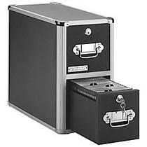 Vaultz; 2-Drawer Vertical CD Cabinet, 14 3/4 inch;H x 8 inch;W x 15 1/4 inch;D, Black