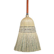 Wilen Janitor Corn-Blend Brooms, 55 1/2 inch;, Pack Of 6
