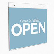 Office Wagon; Brand Wall Sign Holder, Vertical, 11 inch;H x 8 1/2 inch;W