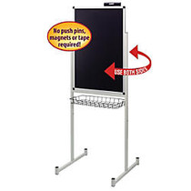 Smead; Justick Double-Sided Promo Stand, Aluminum, 36 inch; x 24 inch;, Black, Aluminum Frame
