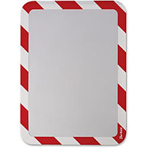 Tarifold High-visibility Insertable Safety Frame - 2 / Pack - 10.3 inch; Width x 14.5 inch; Height - Rectangular Shape - Red Print/Message Color - Self-adhesive, Magnetic - White, Red